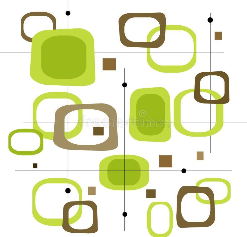 Retro Green Squares (Vector) stock image