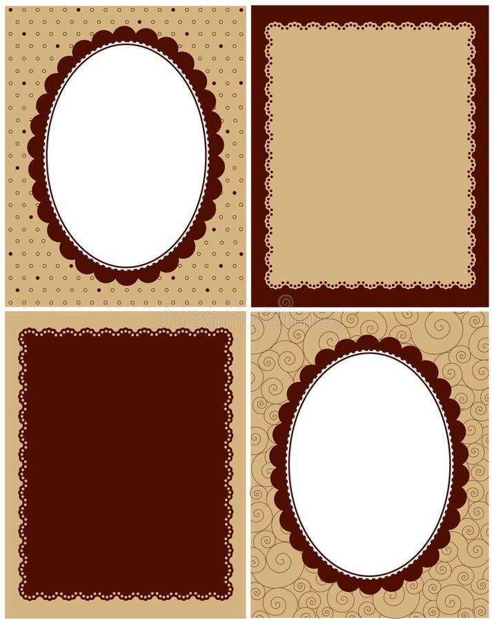 Retro grens stock illustratie