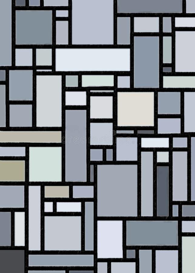 Download Retro Grey Block Mondrian Inspired Art Stock Illustration - Image: 21863186