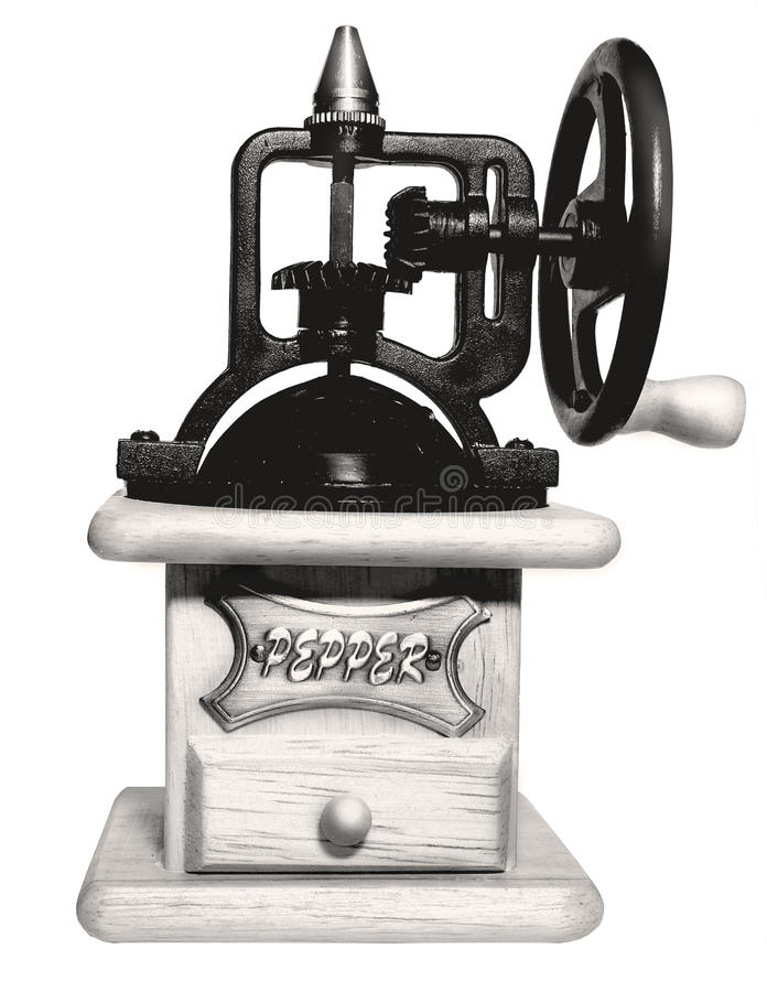 retro grinderpeppar arkivfoto