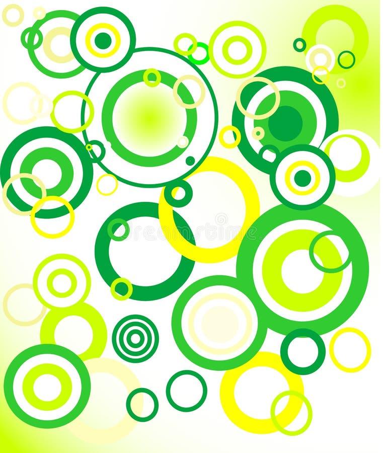 retro groene achtergrond (cirkel) royalty-vrije illustratie