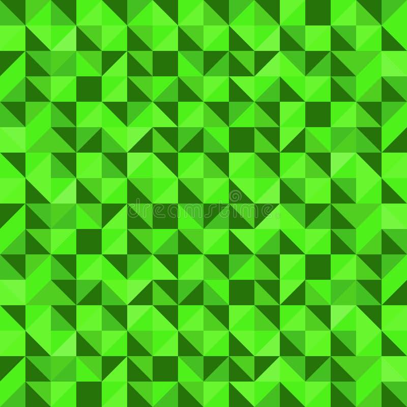 Retro groene driehoek in schaduwenpatroon vector illustratie