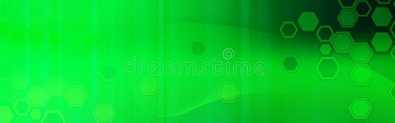 Retro groene kopbal/de Banner van het Web royalty-vrije illustratie