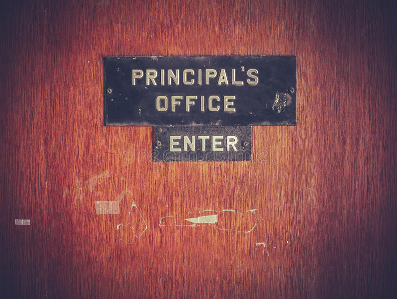 Retro Grunge Principal Office stock images