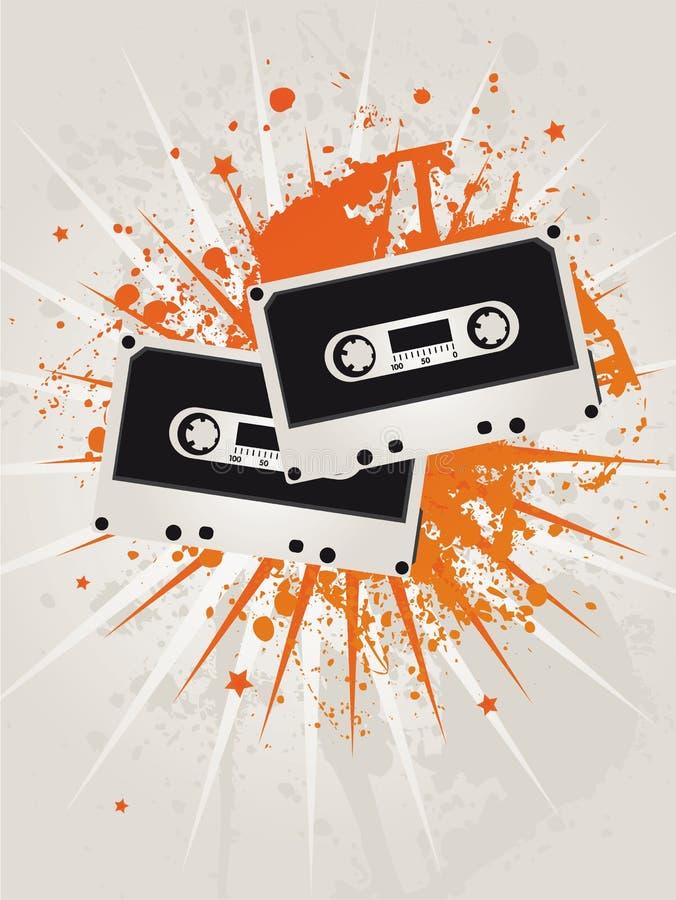 Retro Grunge Star Cassettes royalty free illustration