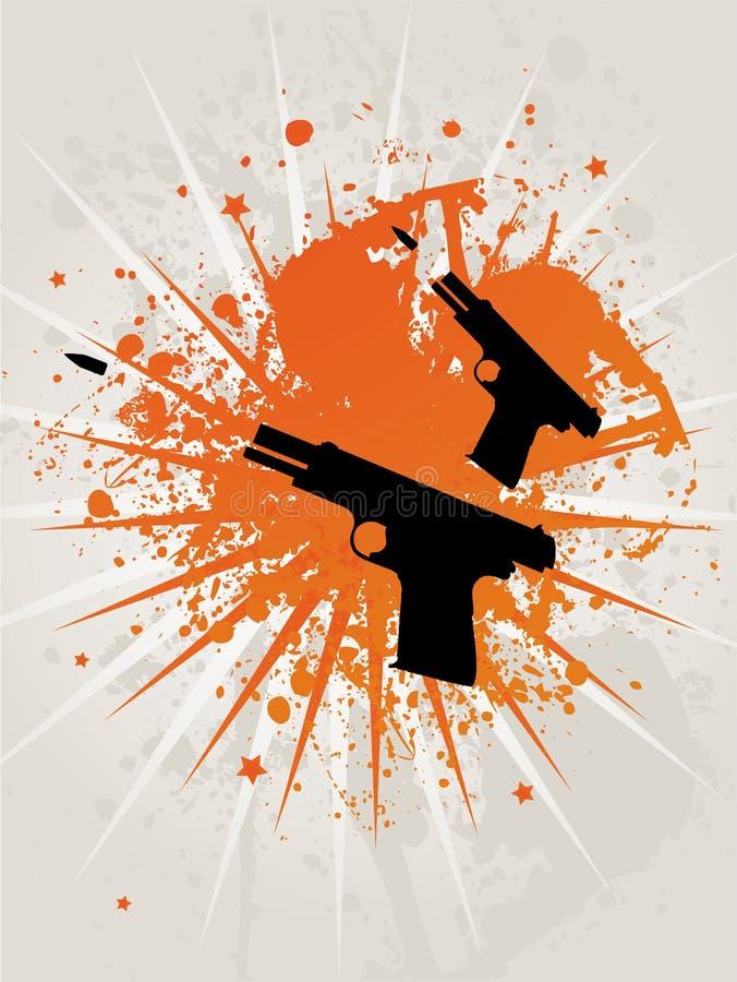 Retro- Grunge Stern Pistoles vektor abbildung