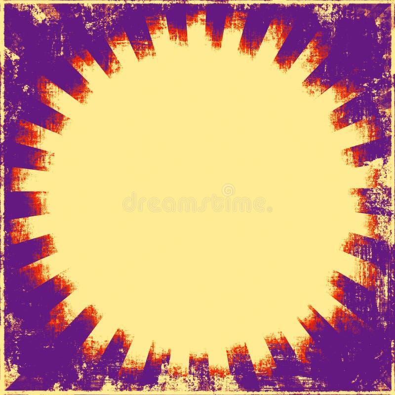 retro grunge sunburst ilustracji