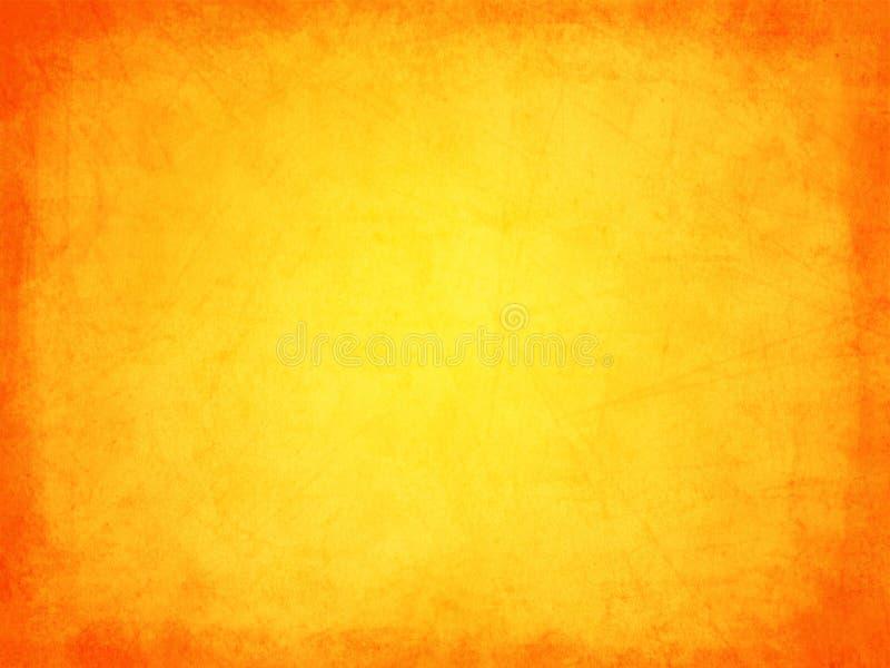 Retro grunge texture orange with border stock photo