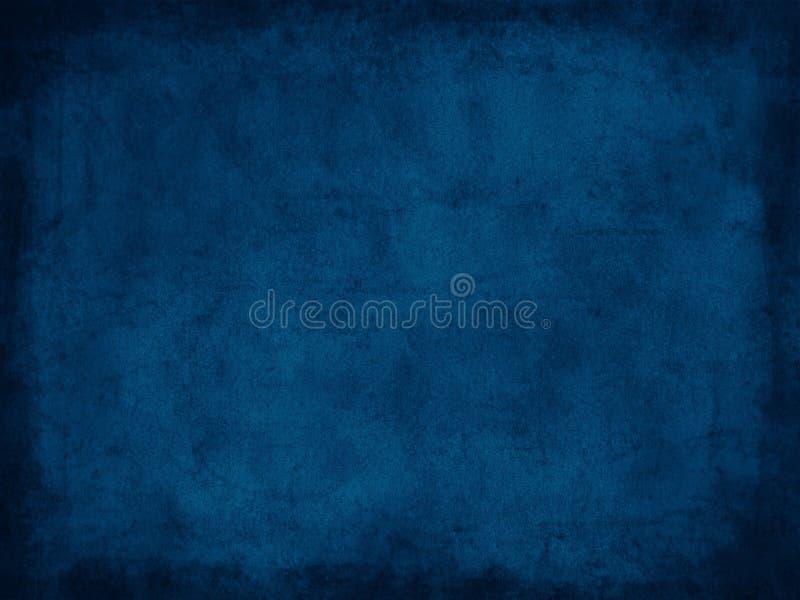 Retro grungedocument textuur donkerblauw met grens royalty-vrije stock afbeelding