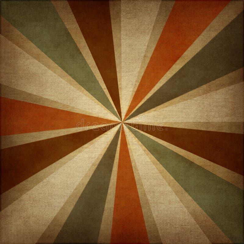 Retro grungy abstracte achtergrond met stralen. vector illustratie