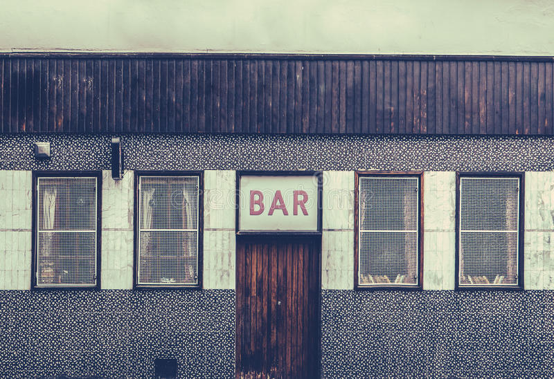 Retro Grungy Urban Bar stock image