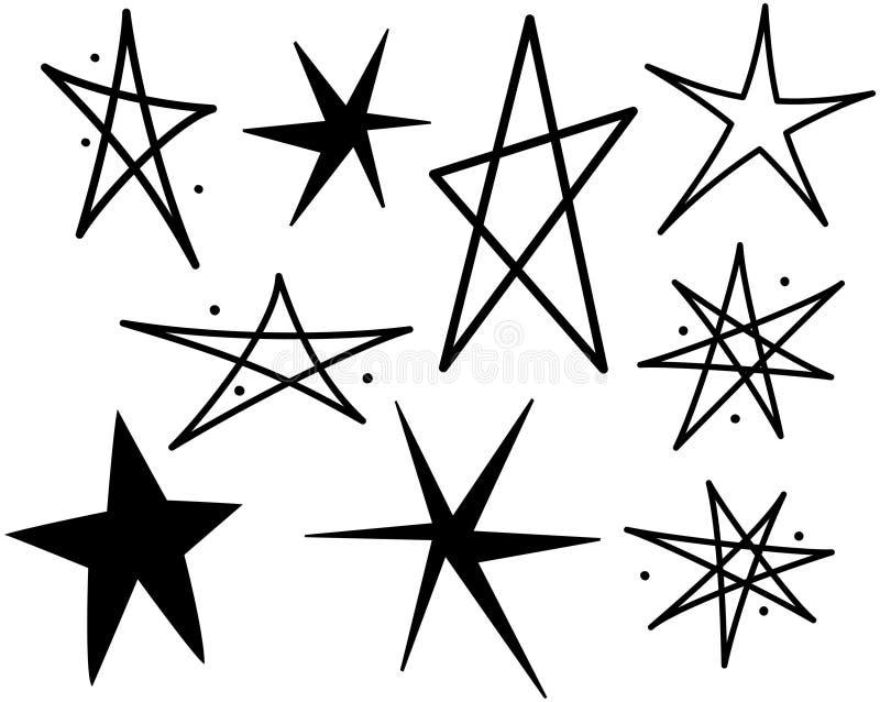 Retro gwiazdy 10 royalty ilustracja