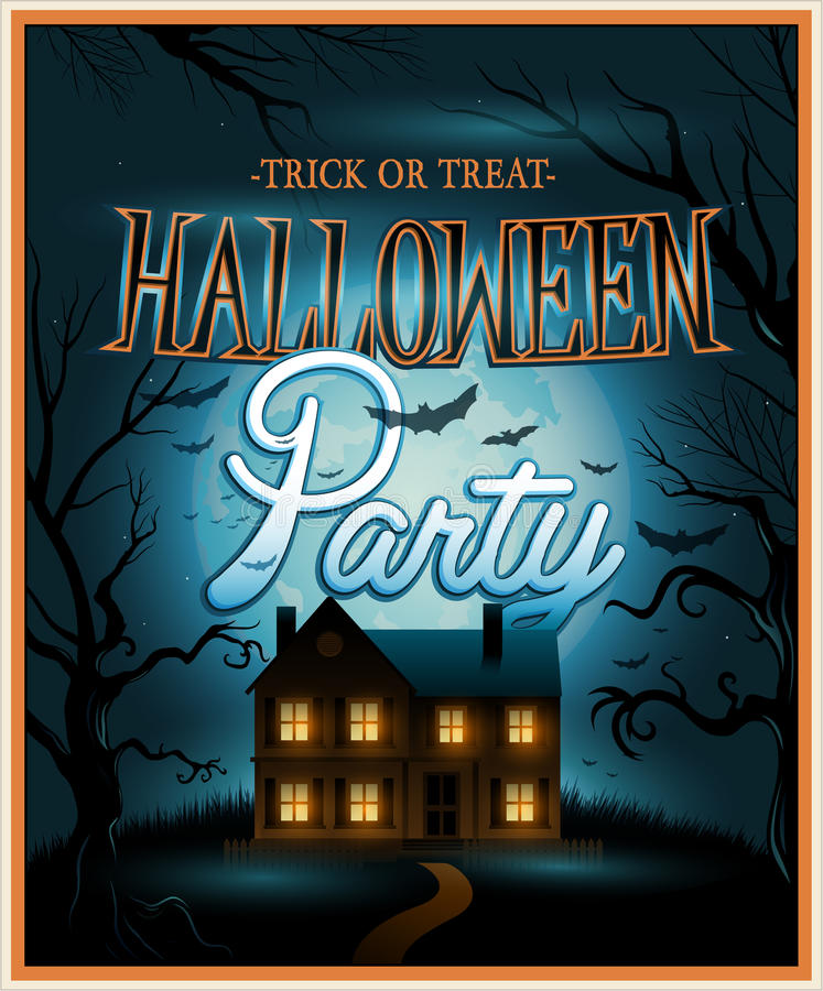 Free Retro Halloween Background Party Invitation Stock Images - 42341034