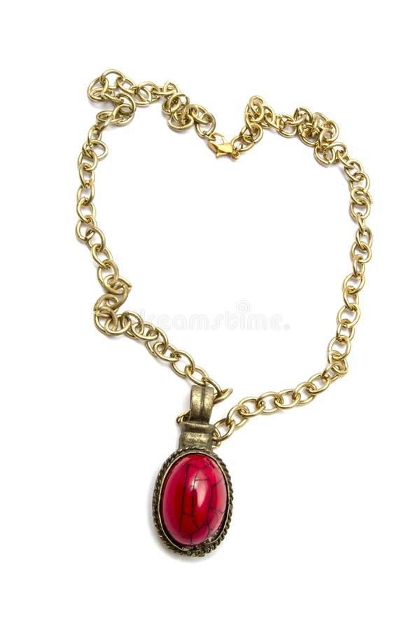 Retro halsband och hänge royaltyfri bild