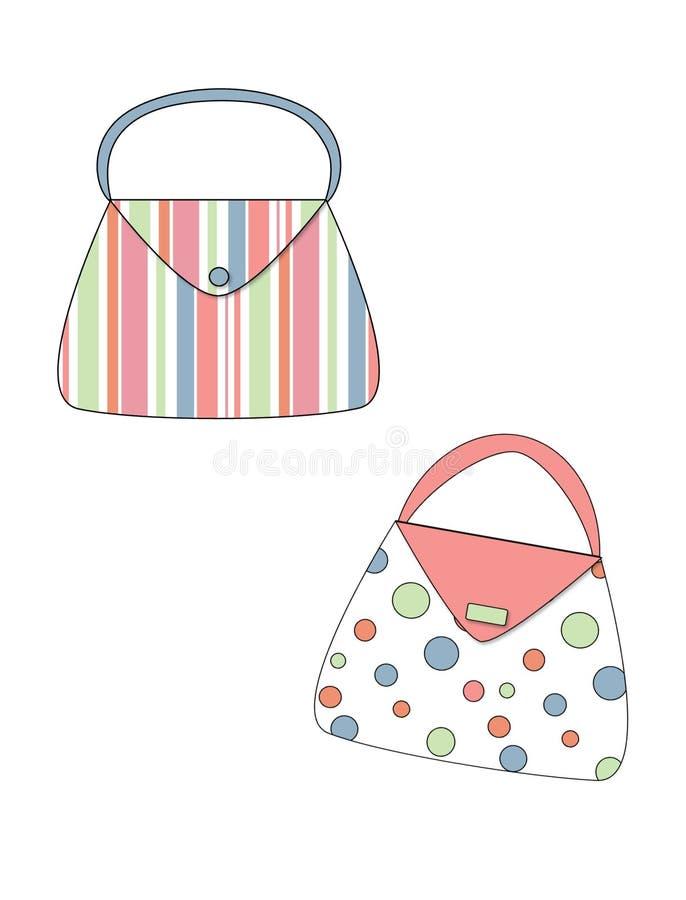 Retro- Handtaschen stock abbildung