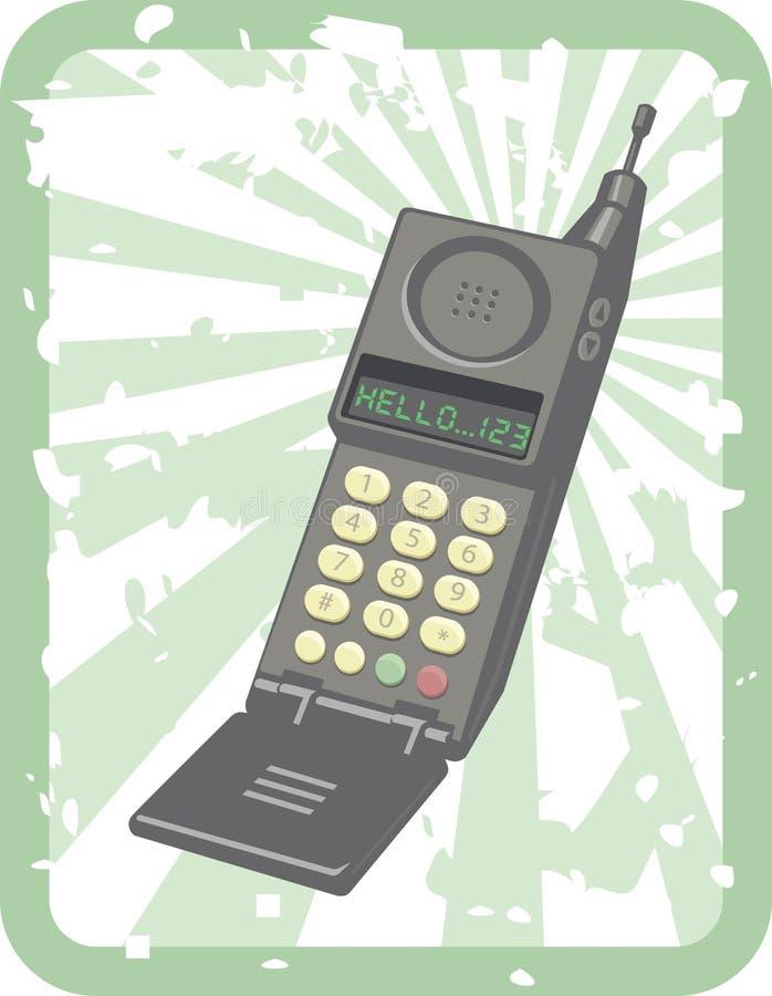 Retro- Handy lizenzfreie abbildung