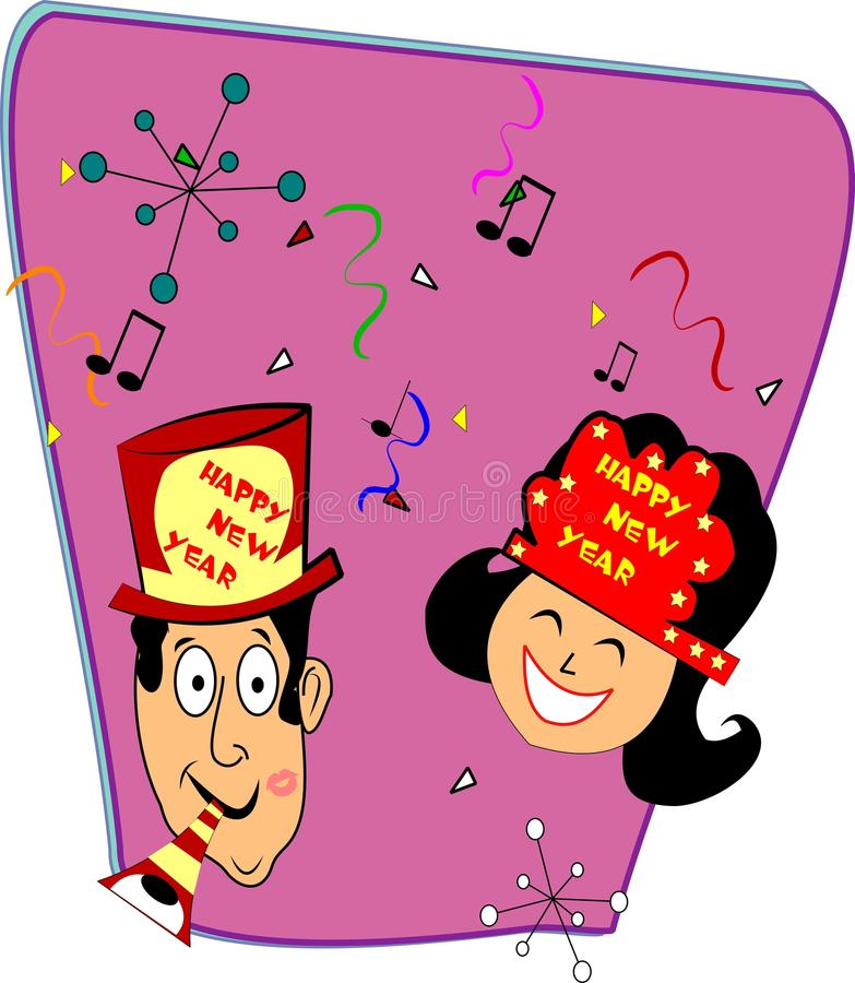 Retro Happy New Years Royalty Free Stock Photo