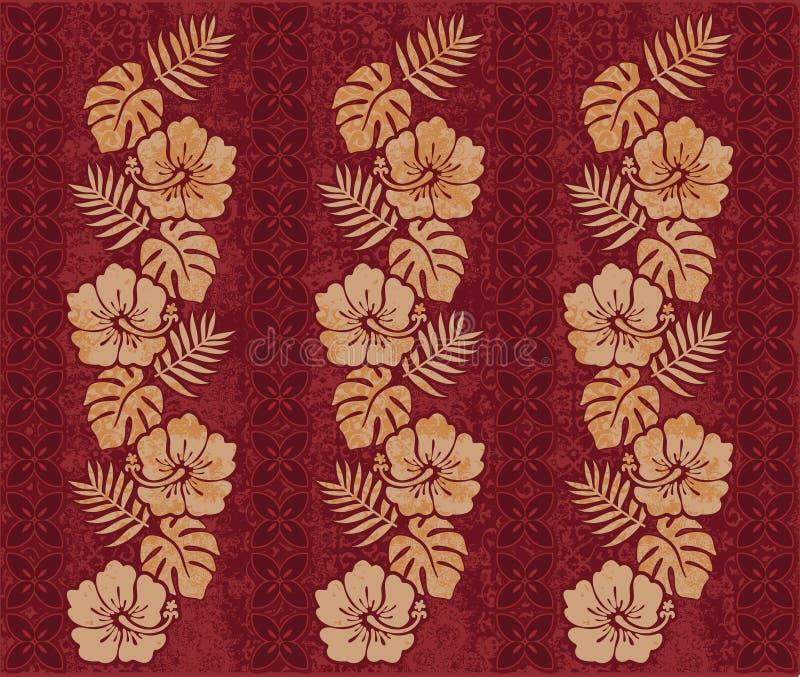 Retro Hawaiiaans patroon stock illustratie