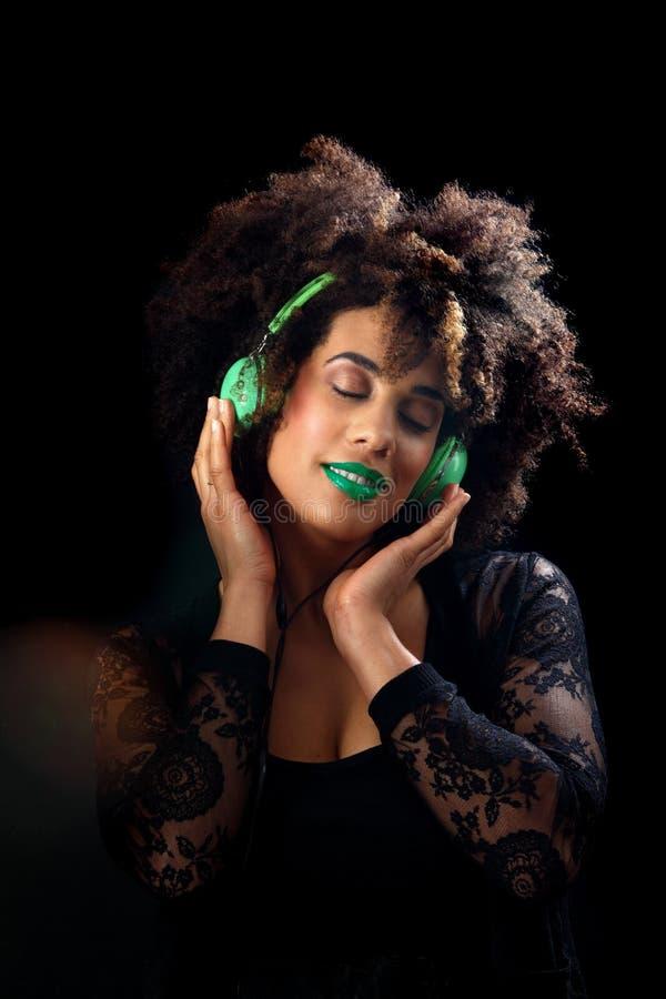 Retro headphones stock photos