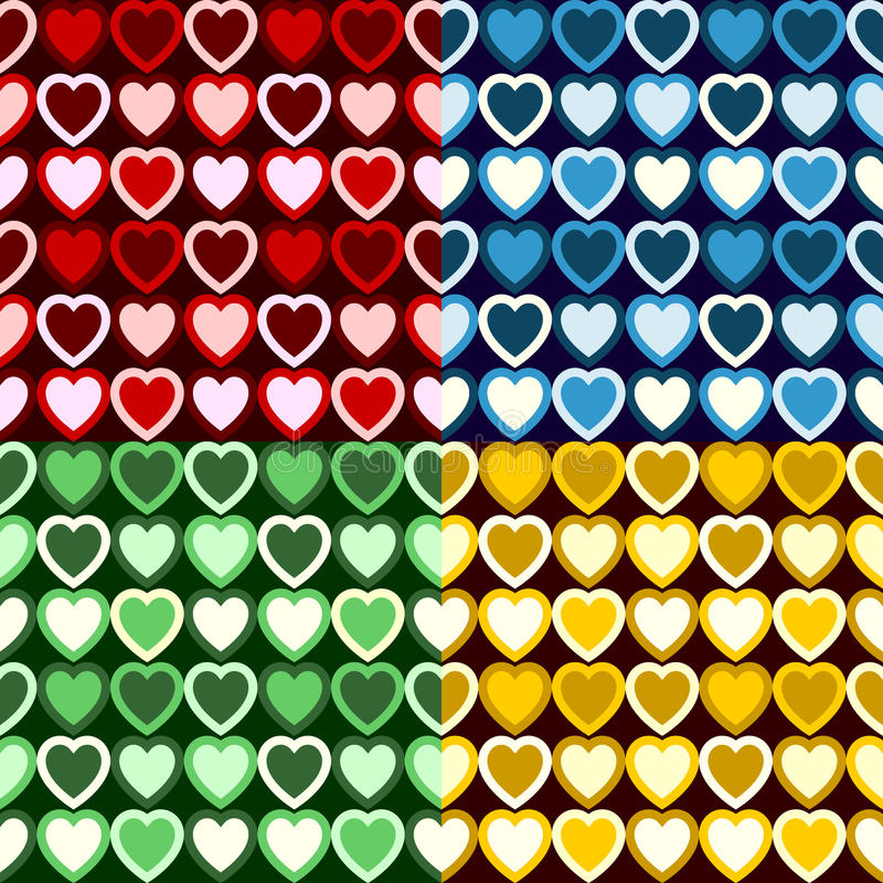 Download Retro Heart Pattern stock vector. Image of hearts, tones - 19185063