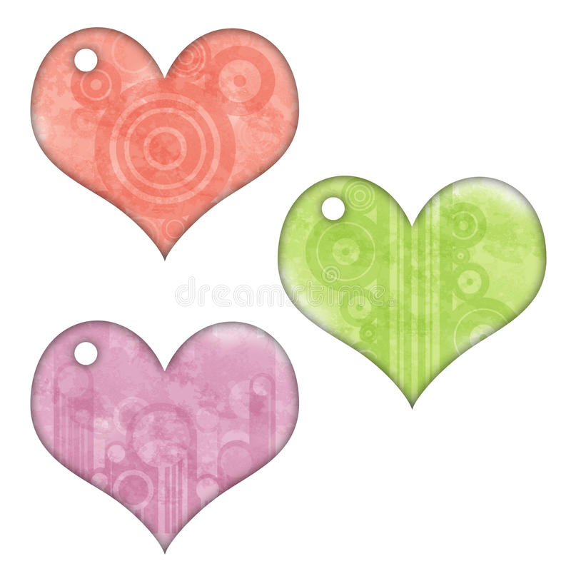 Download Retro Heart Tags stock illustration. Image of gift, white - 10046865