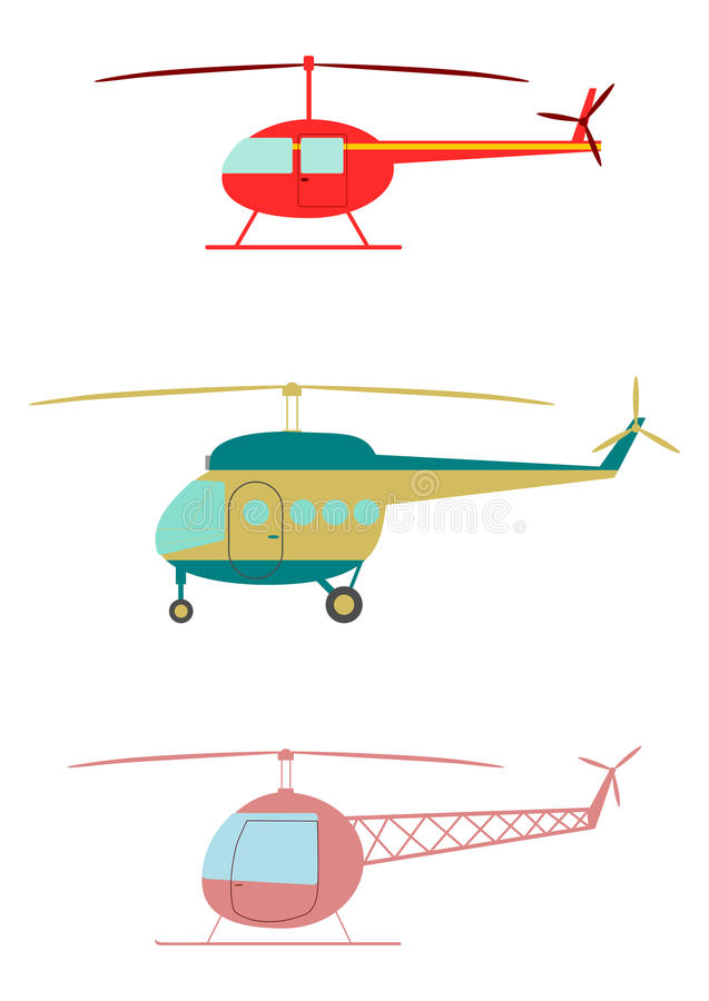 Download Helicopters. stock vector. Image of communication, illustration - 30056493