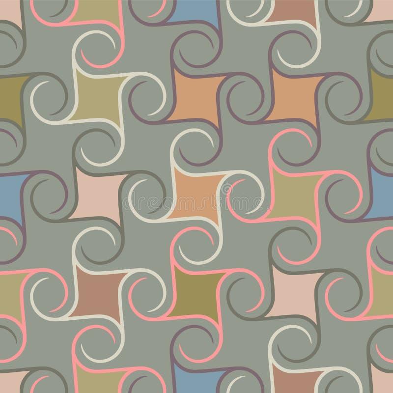 Retro herhaald behang - Uitstekend Sferisch patroon - vector illustratie