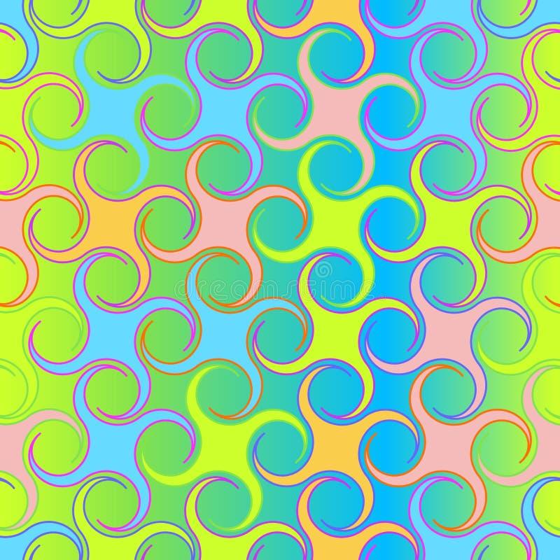 Retro herhaald behang - Uitstekend Sferisch patroon - royalty-vrije illustratie