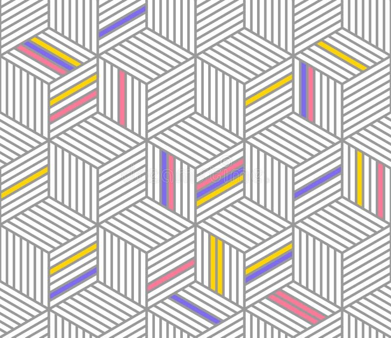 Retro herhaald behang - Uitstekend vectorpatroon stock illustratie