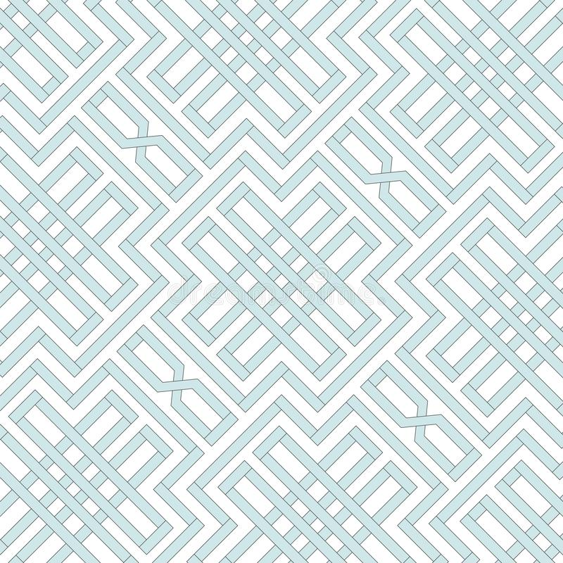 Retro herhaald behang - Uitstekend vectorpatroon vector illustratie