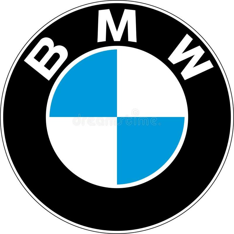 Retro het embleem van BMW Motorsport stock illustratie