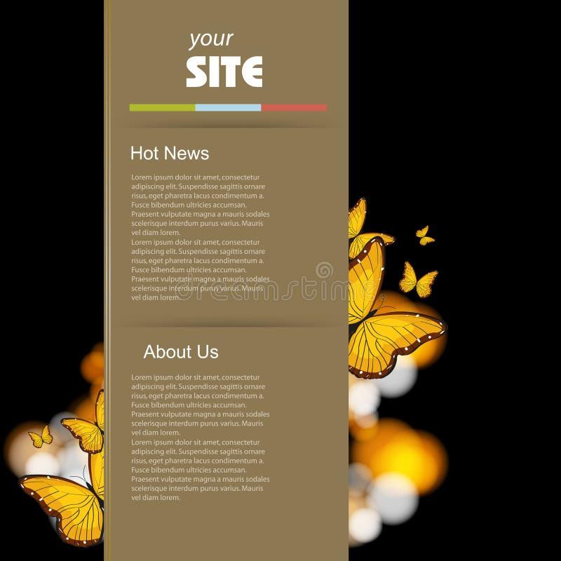 Retro het malplaatjeontwerp van de website vector illustratie