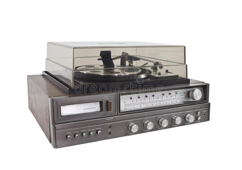 Download Retro Hi-Fi Stereo Isolated With Clipping Path Stock Photo - Image: 25896044