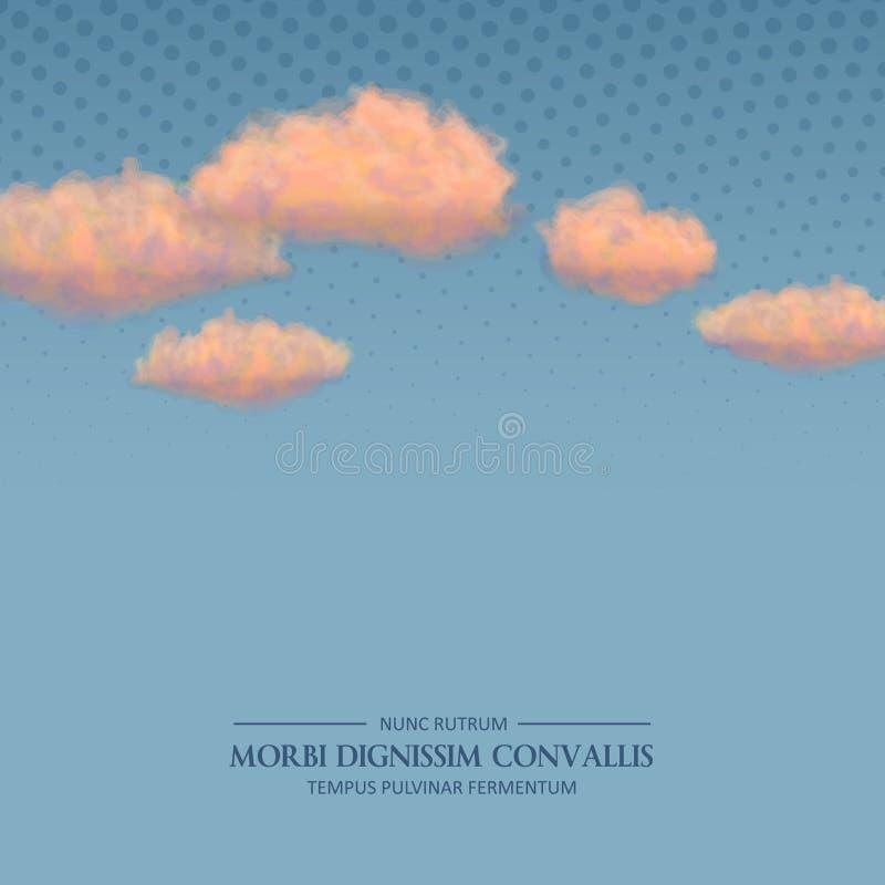 Retro himmelbakgrund för vektor royaltyfri illustrationer