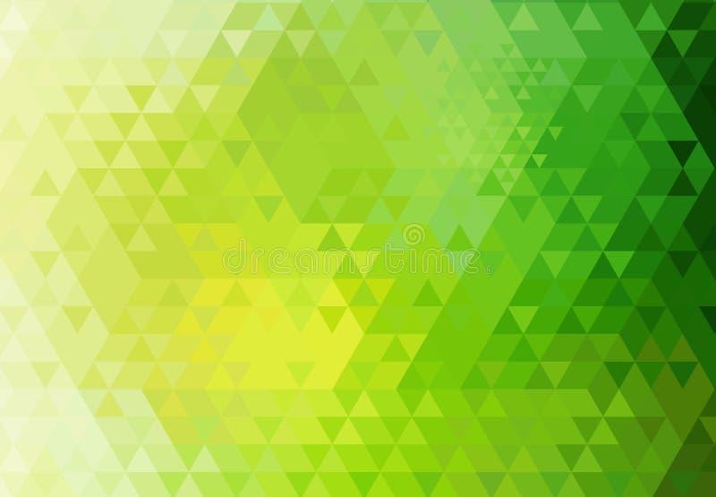 Retro- Hintergrund des Dreiecks. stock abbildung