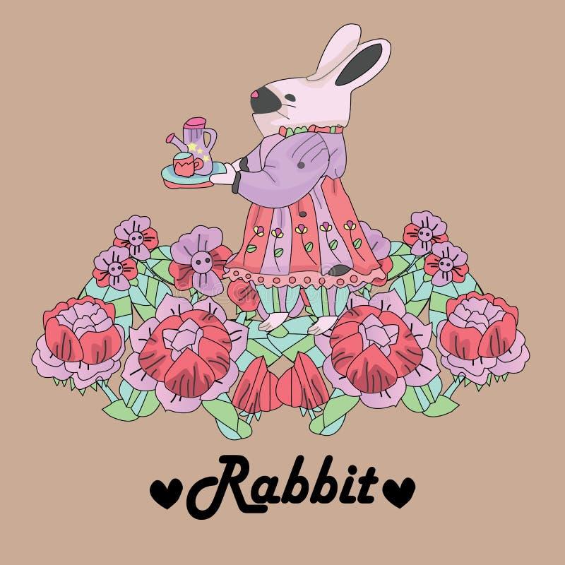 Retro- Hintergrund des Kaninchens lizenzfreie stockfotos