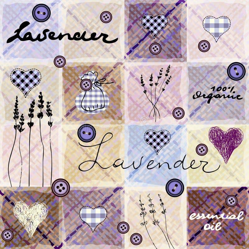 Retro- Hintergrund des Lavendels stock abbildung
