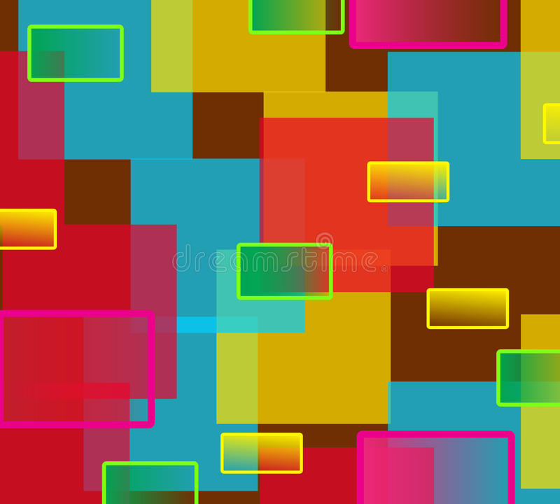 Retro- Hintergrund mit Quadraten stock abbildung