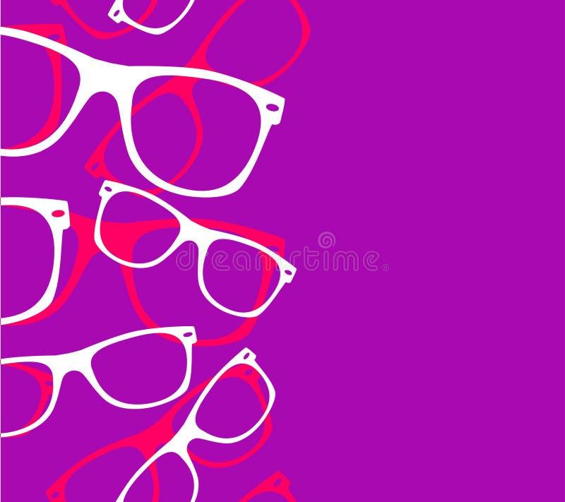 Retro- Hippie-Sonnenbrille des Musters stock abbildung