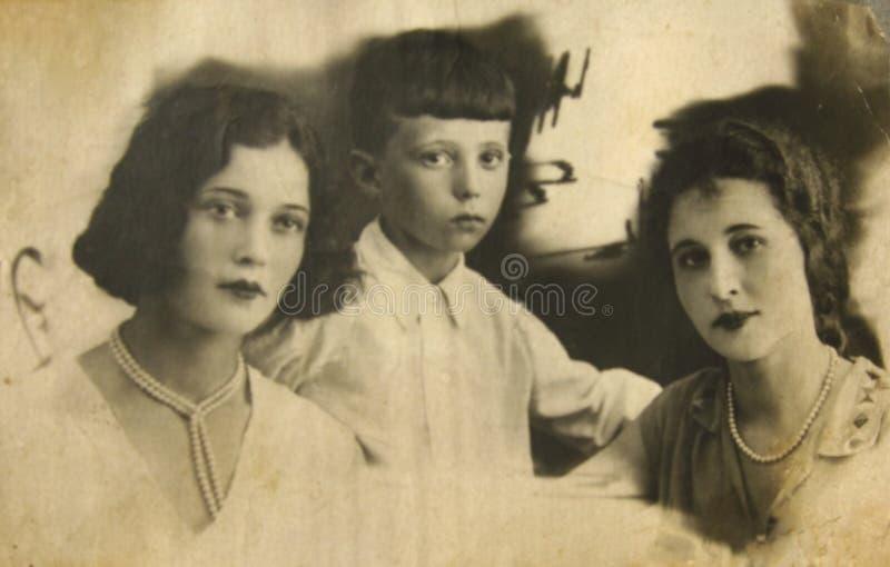 retro historiskt foto royaltyfria bilder