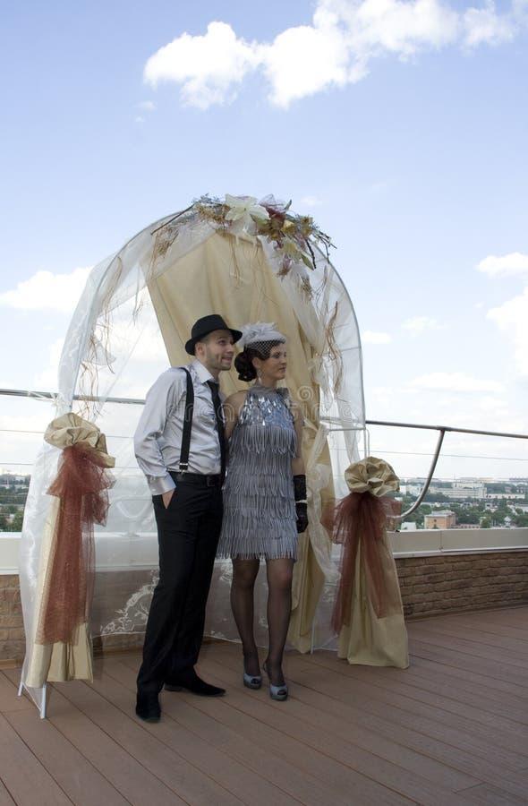 Retro- Hochzeit stockbilder