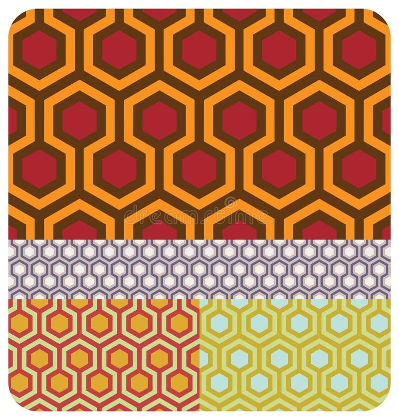 retro honungskaka royaltyfri illustrationer