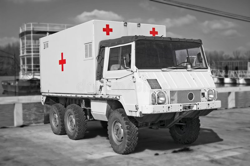 Retro Hospital Truck stock photography