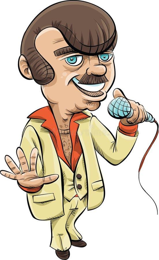 Retro Host. A retro cartoon host holding a microphone royalty free illustration