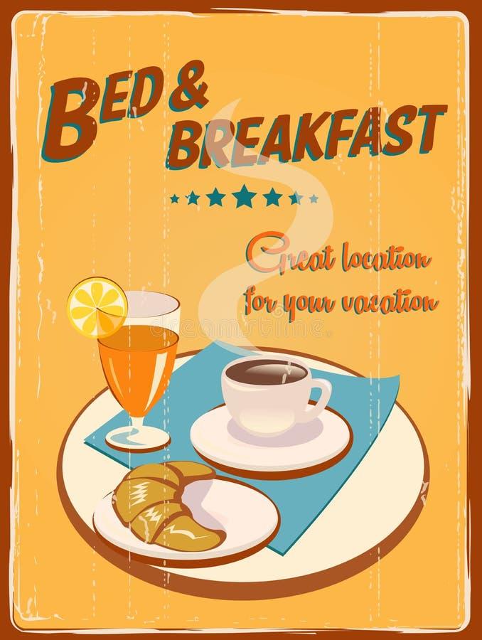 Retro Hotel Poster stock illustration