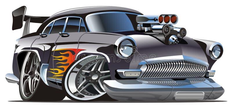 Retro hotrod del fumetto di vettore illustrazione vettoriale