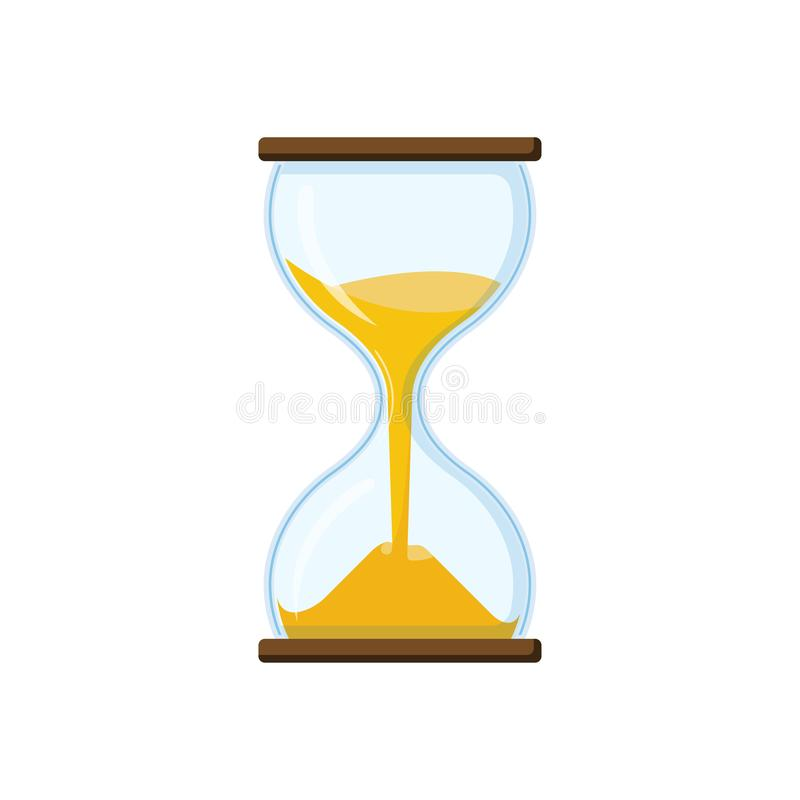 Hourglass with transparent glass vector illustration