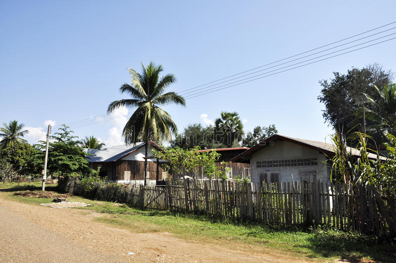 Retro House Thailand Style Country Vintage Old royalty free stock photography