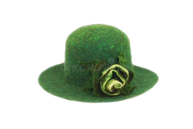 Retro- Hut der Frauen lizenzfreies stockfoto