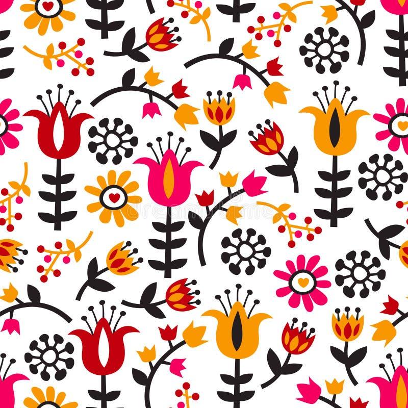 Retro i scandinavian inspirowani kwiaty/kwiecisty temat ilustracji
